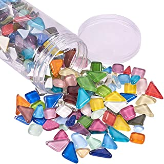 PH PandaHall 500g Assorted Colors Irregular Shape Pieces Mosaic Tiles Crystal Cabochons Large Piece for Home Decoration Crafts Supply DIY Handmade Project