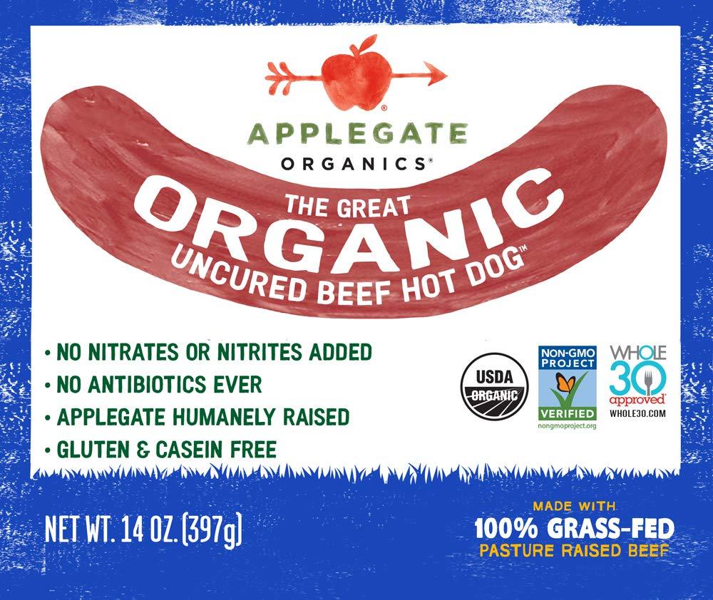 Applegate Great Organic Beef Hot Dog Uncured, 14oz