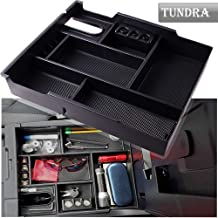 Heart Horse Center Console Organizer Glove Box Fits for Toyota Tundra 2014-2019, Armrest Box Secondary Storage, Insert ABS Tray Armrest Box Secondary Storage, Tundra Accessories
