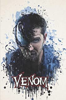 """Venom: Blank lined notebook, Journal Or a Diary To Write Down Ideas, Follow up, projects for women, men & children have Durable 6"""" x 9"""" inches 120 pages (lined notebook)"""