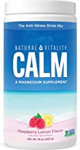 Natural Vitality Calm, #1 Selling Magnesium Citrate Supplement, Anti-Stress Drink Mix Powder, Raspberry Lemon - 16 Ounce