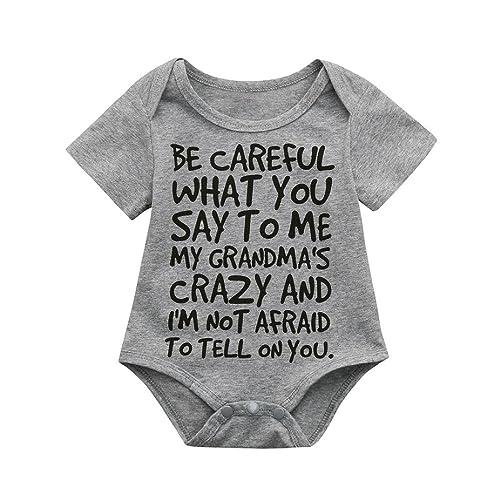 91843052f7e4 squarex Infant Baby Kids Girl Boy Print Romper Jumpsuit Outfits Sunsuit  Clothes