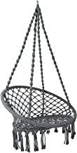 Hammock Chair Swing with Cushion, Gardeon Rope Swing Chair for Indoor, Outdoor, Home, Bedroom, Patio, Yard,Deck, Garden(Grey)