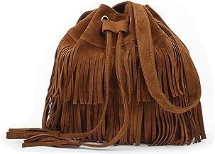 Stylish Fashionable Womens Cross-body Shoulder Bag Faux Suede Fringe Tassels
