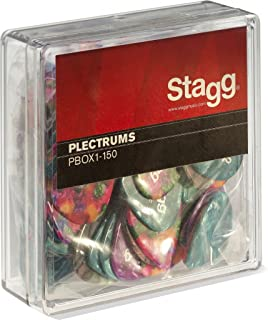 Stagg PBOX1-150 Box of 100 Guitar Picks, 1.5mm-Assorted Colors