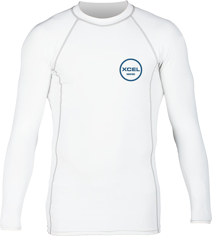 XCEL Mens Premium Stretch Solid Long Sleeve Performance Fit Rashguard