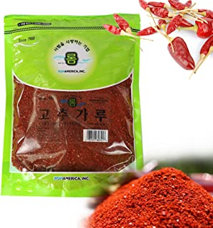 Korean Red Chili, Gochugaru, Hot Pepper Coarse Powder Flakes (1 Lb)