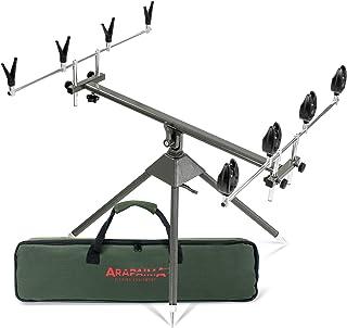 Caña de pescar soporte con cojines y alarmas Set 4way