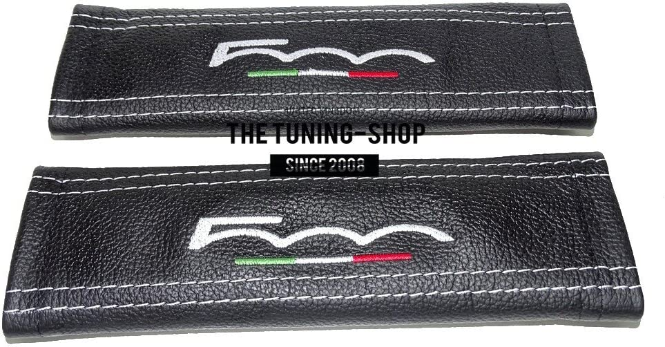 The Tuning-Shop Ltd 2 x 2021 Seat Black 500 Covers Pads Leather Selling rankings Belt