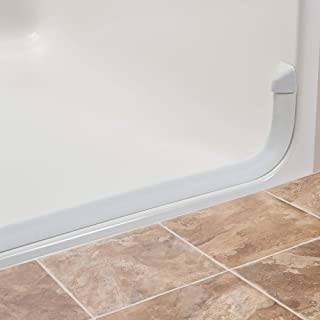 Lifeline Collapsible Shower Threshold Dam - Water Stopper | K-Dam Curbless Barrier | Radius End Caps | 66 Inch