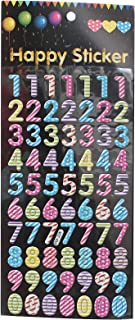 Apple E-86 Numbers Stickers - Multi Color