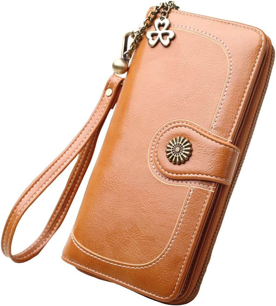 Zlover Women's Card Holder Free shipping on posting reviews Wallet L Capacity RFID Large Blocking Challenge the lowest price of Japan ☆