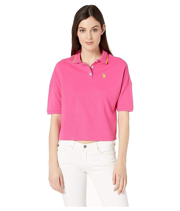 U.S. POLO ASSN. Cropped Polo Shirt