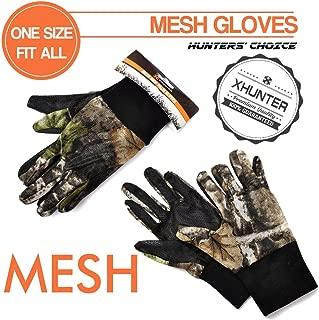 Xhunter Camo Mesh Gloves for Hunting Shooting~Breathable Antiskid Summer Gloves