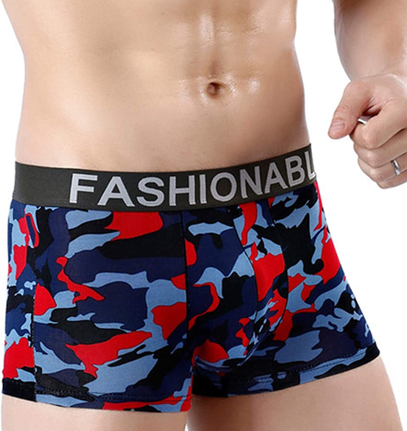 WYTong Men's SALENEW very popular Cotton Camouflage Industry No. 1 Printed S Boxer Briefs Breathable