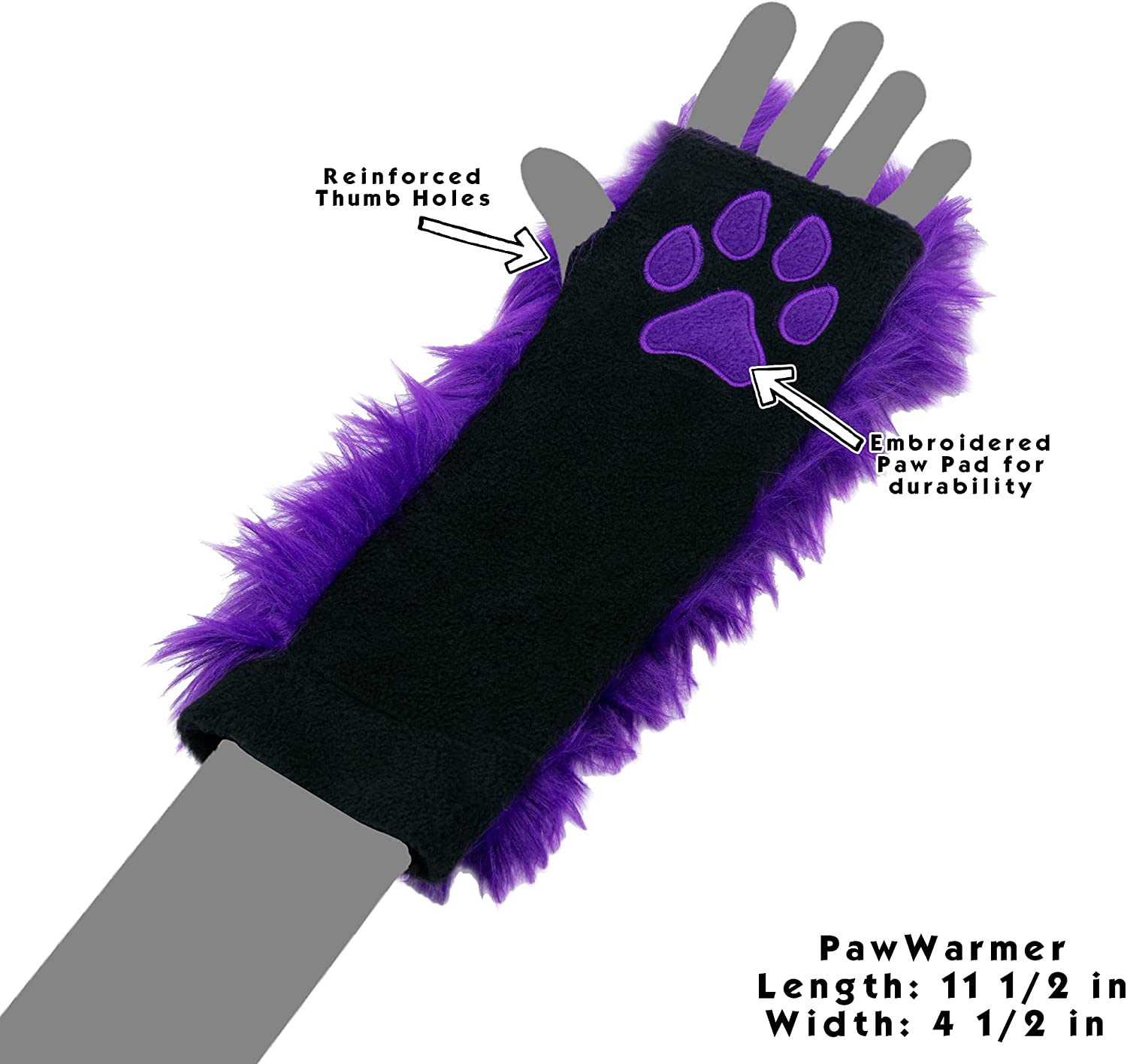 Pawstar Furry Cheshire Cat Striped Paw Warmers Arm Fingerless Gloves - Alternate at  Women's Clothing store