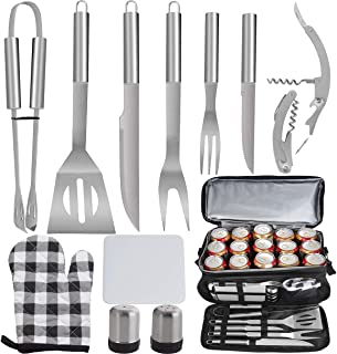 POLIGO 12PCS Barbeque Accessories with 15 Can Black...