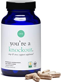 Ora Organic You're Knockout Sleep & Stress Support Capsules, 60 count