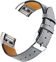 For Fitbit Charge 2 Bands, bayite Genuine Leather Bands for Fitbit Charge 2 Black White Pink Brown Snakeskin