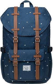 KAUKKO Schulranzen Damen Herren Studenten 18 Zoll Backpack für 13 Notebook Lässiger Daypacks, 47  28  16cm, 19L, Large BlauEP5-12