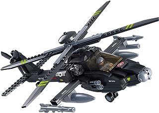 Sluban Military Blocks Army Bricks Toy - Ah-64 Apache Helicopter