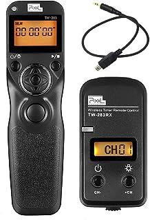 Pixel Pro 2.4GHz Inalámbrico Disparador a Distancia con Temporizador TW283-DC2 Timer Disparador Remoto para Nikon DF D5600 D3100 D3200 D3300 D5000 D5100 D5200 D5300 D5500 D7000 D7100 D7200 D610 D750
