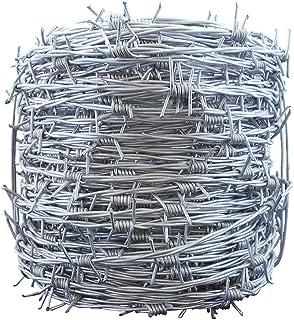 畑の害獣や畑荒らし対策に!! 有刺鉄線 鬼針 1.5×50m針間7.5cm 侵入防止 窃盗対策