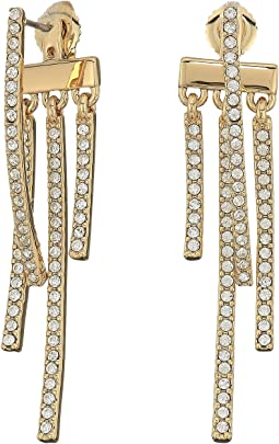 Vince Camuto - Dangling Sticks Front Back Earrings