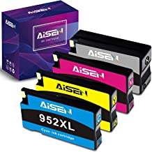 AISEN Remanufactured HP 952xl Ink cartridges Combo Pack Replacement for HP 952 952 XL Used in OfficeJet Pro 8710 8715 8720 8740 7740 8210 8730 8702 8725 8216 (1 Black 1 Meganta 1 Cyan 1 Yellow)