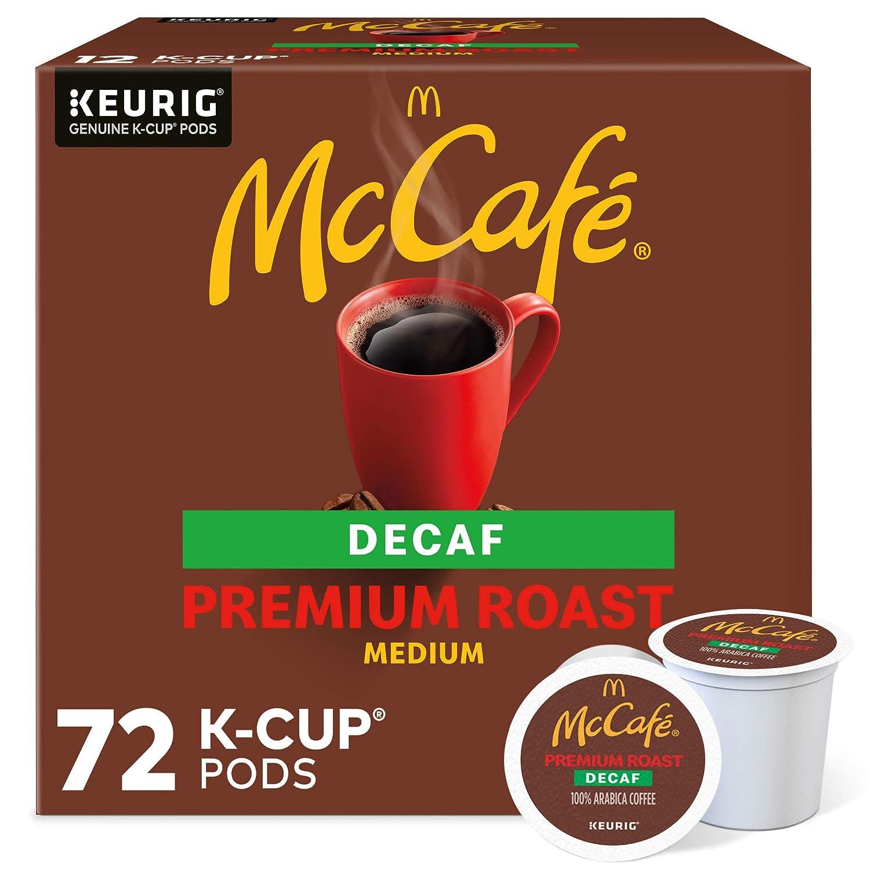 McCafé Decaf Premium Medium 毎週更新 Roast 18%OFF 6 Pods 72 K-Cup Coffee