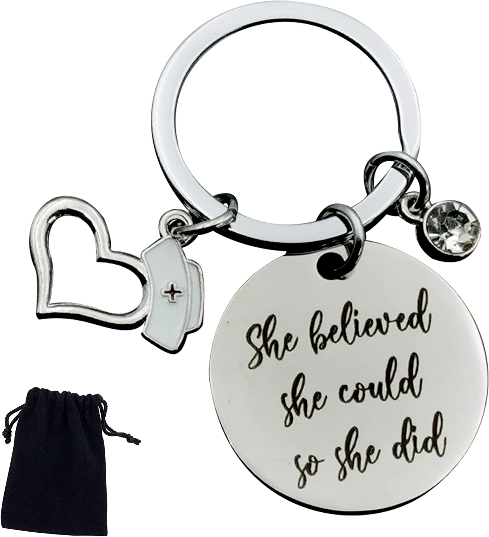 Warehouse No.9 Inspirational Nurse Jewelry G Special price Popular brand in the world Graduation Keychain