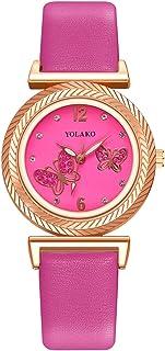 Orologi Da Donna Eleganti moda donna orologi a farfalla quadrante in pelle cinturino in pelle con cinturino al quarzo orol...