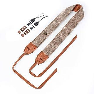 Camera Neck Shoulder Belt Strap,Leather Vintage Print Soft Camera Straps for Women/Men for DSLR/SLR/Nikon/Canon/Sony/Olymp...