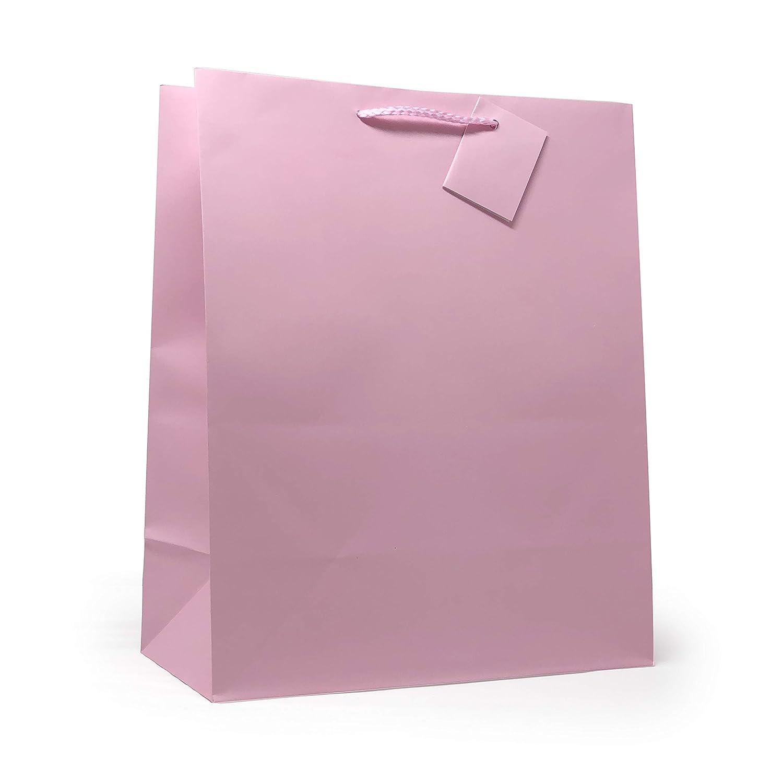 Allgala 12PK Value Premium Solid Color Paper Gift Bags (13