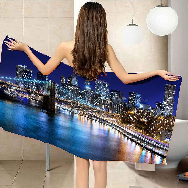 IRUAIF Microfiber Beach Towel City gift View Dallas Mall Seaside 78.7x78.7i Night