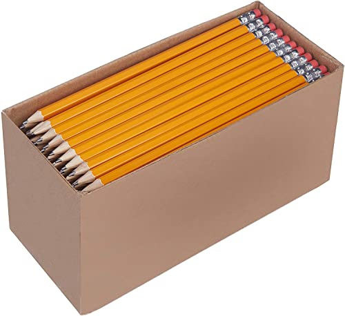 Amazon Basics Woodcased #2 Pencils, Pre-sharpened, HB Lead - Box of 150, Bulk Box