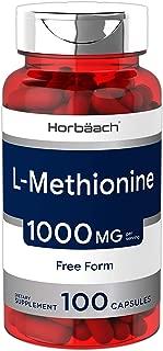 Horbaach L Methionine 1000 mg   100 Capsules   Non-GMO, Gluten Free   Free Form Supplement