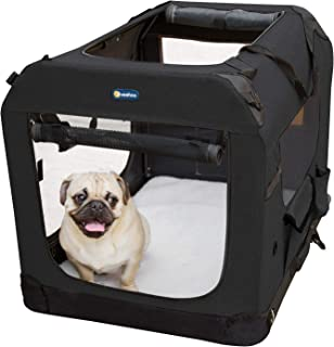 Veehoo Folding Soft Dog Crate, 3-Door Pet Kennel for Crate-Training Dogs, 5 x Heavy-Weight Mesh Screen, 600D & 1200D Oxford Fabric, Indoor & Outdoor Use, Multiple Sizes & Colors Available