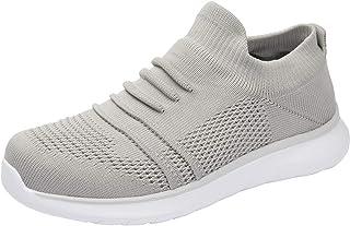 WOTTE Men's Walking Shoes Breathable Mesh Sneakers Knit Sock Shoes