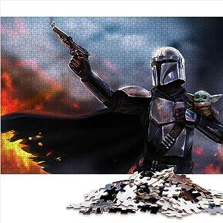 Visionpz Puzzles pour Adultes Puzzle 1000 pièces Star Wars The Mandalorian Jeu de Puzzle Familial Movie Poster Puzzle Jeux...