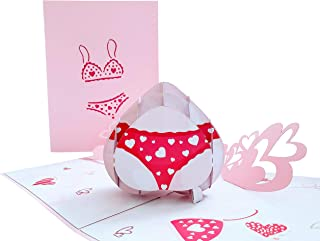 iGifts And Cards Sexy Lingerie 3D Pop Up Greeting Card - Valentine's Day, Happy Anniversary, Birthday Card For Her, Card f...