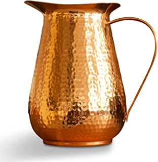 Large 32oz BPA Free Not from China Handcrafted Diamond Finish by Indian Artisans Matyck Pure Copper Yoga /& Sports Water Bottle Leak-Proof Design Eco Friendly