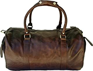"CRAFAT 22"" Premium Quality Brown, Buffalo Leather Travel Duffel Bag/Travelling Bag"