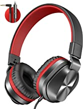 On-Ear Headphones with Microphone, Universal Foldable...