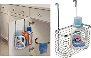 iDesign Axis Over the Cabinet Kitchen Storage Organizer Basket for Aluminum Foil, Sandwich Bags, Cleaning Supplies - Large, Chrome