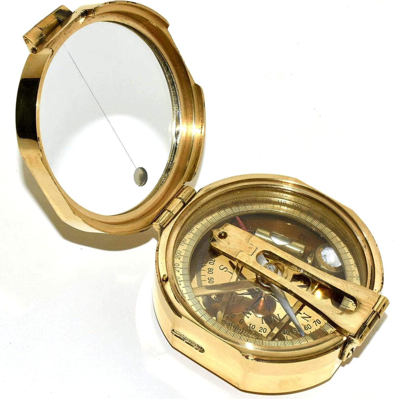 Kelvin Hughes Natural Sine Brunton C Brass Ranking TOP7 Soldering 1917 Mining Compass