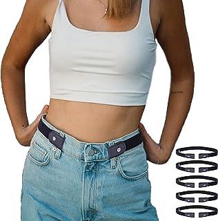 حزام مرن بدون إبزيم للنساء والرجال بدون انتفاخ بدون متاعب أحزمة نسائية غير مرئية لبنطلون جينز