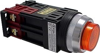 マルヤス電業φ30照光押ボタンSW突形 トランス付AC200~220V LED照光(緑色)1a接点 A30 FT200 10YLE
