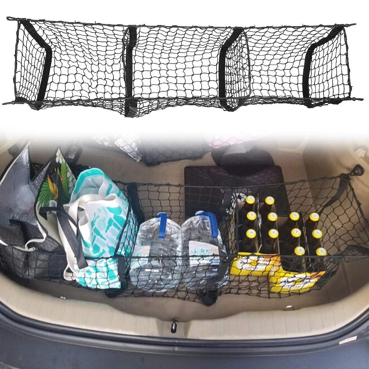 Three Pocket Envelope Cargo Net Fit for Mazda CX-9 2015 2016 2017 2018 Cargo Organizer Storage Net