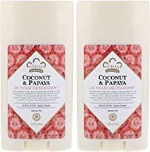 Nubian Heritage 24-Hour Natural Deodorant (Coconut & Papaya), With Coconut Oil, Papaya Extract, Shea Butter & Grapefruit S...
